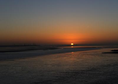 Delfzijl, Niederlande Sonnenaufgang