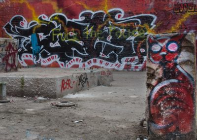 Graffiti, D-Dorf Hafen,